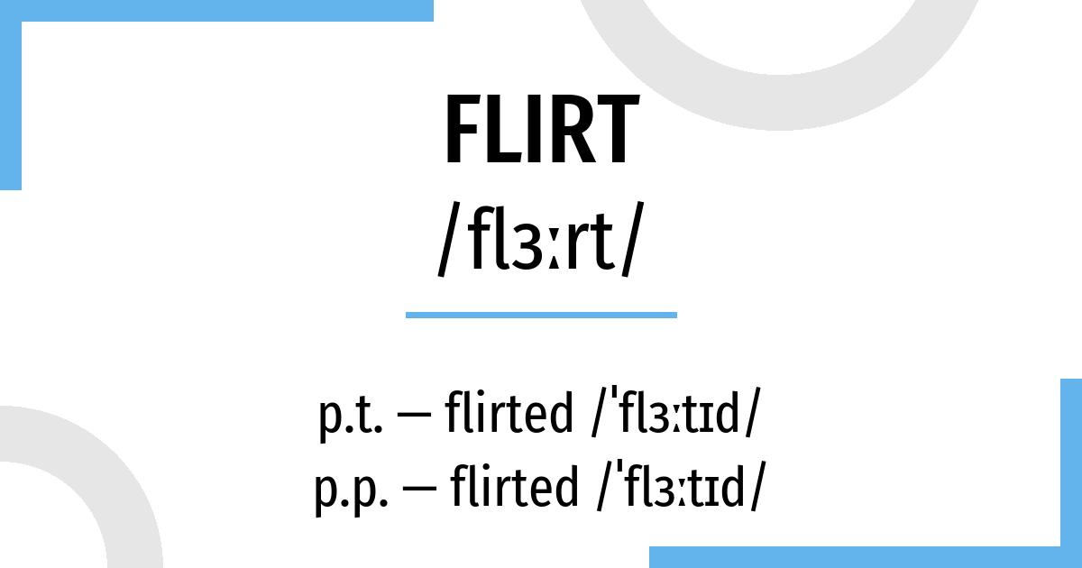 flirter conjugation