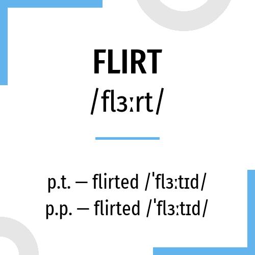 flirter conjugation)