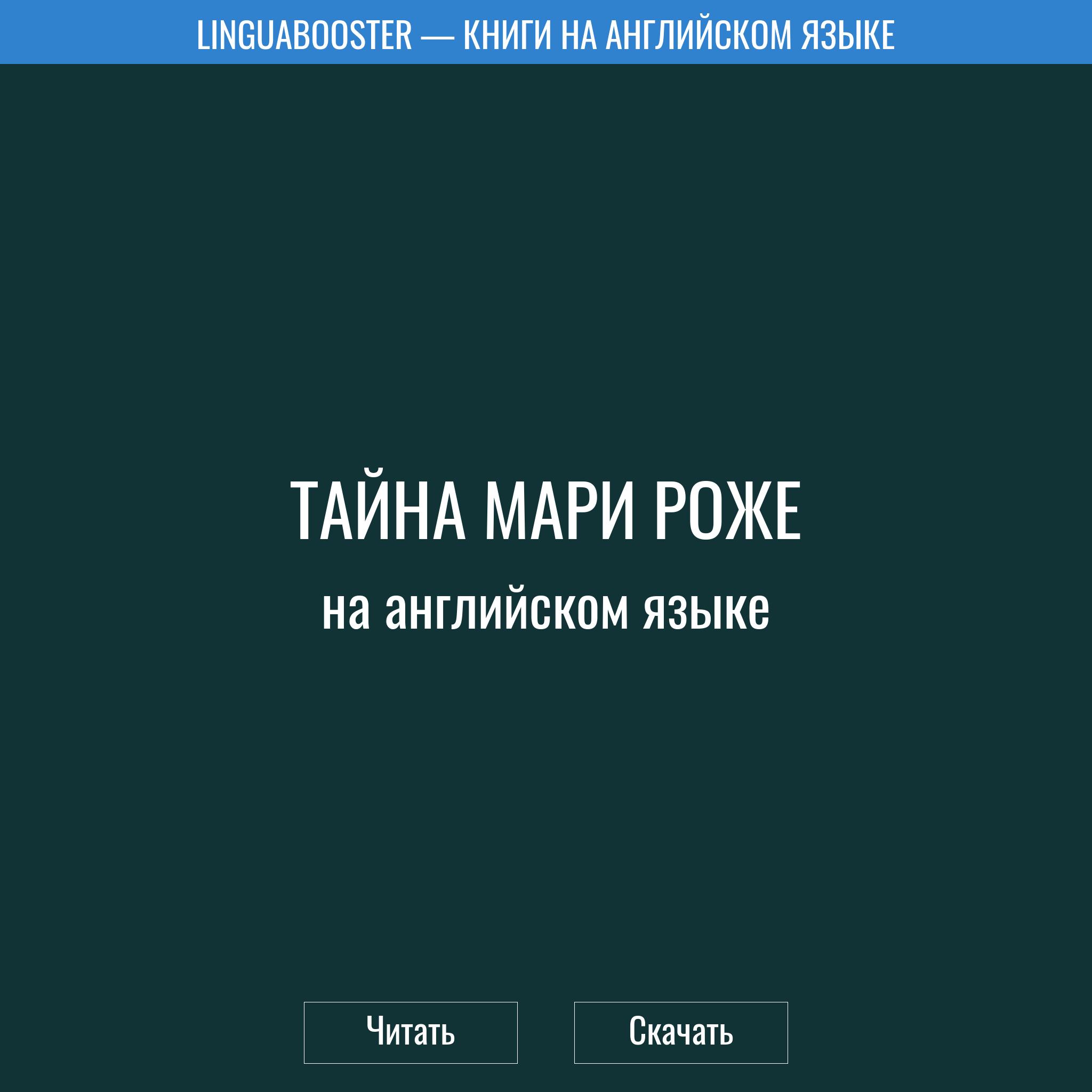 Читать книгу  «Тайна Мари Роже»