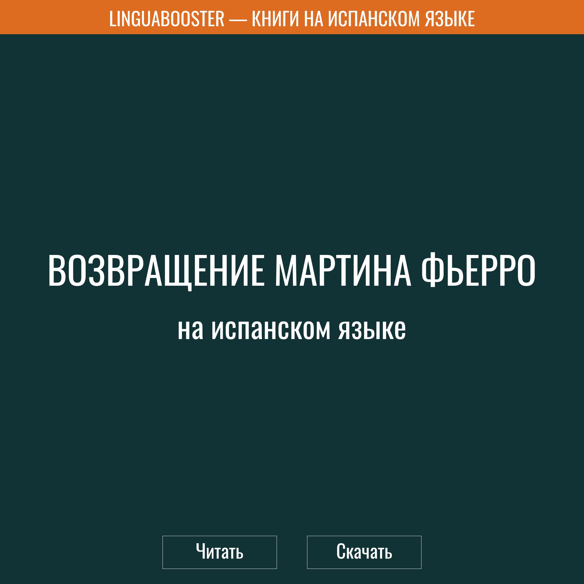 Читать книгу  «Возвращение Мартина Фьерро»