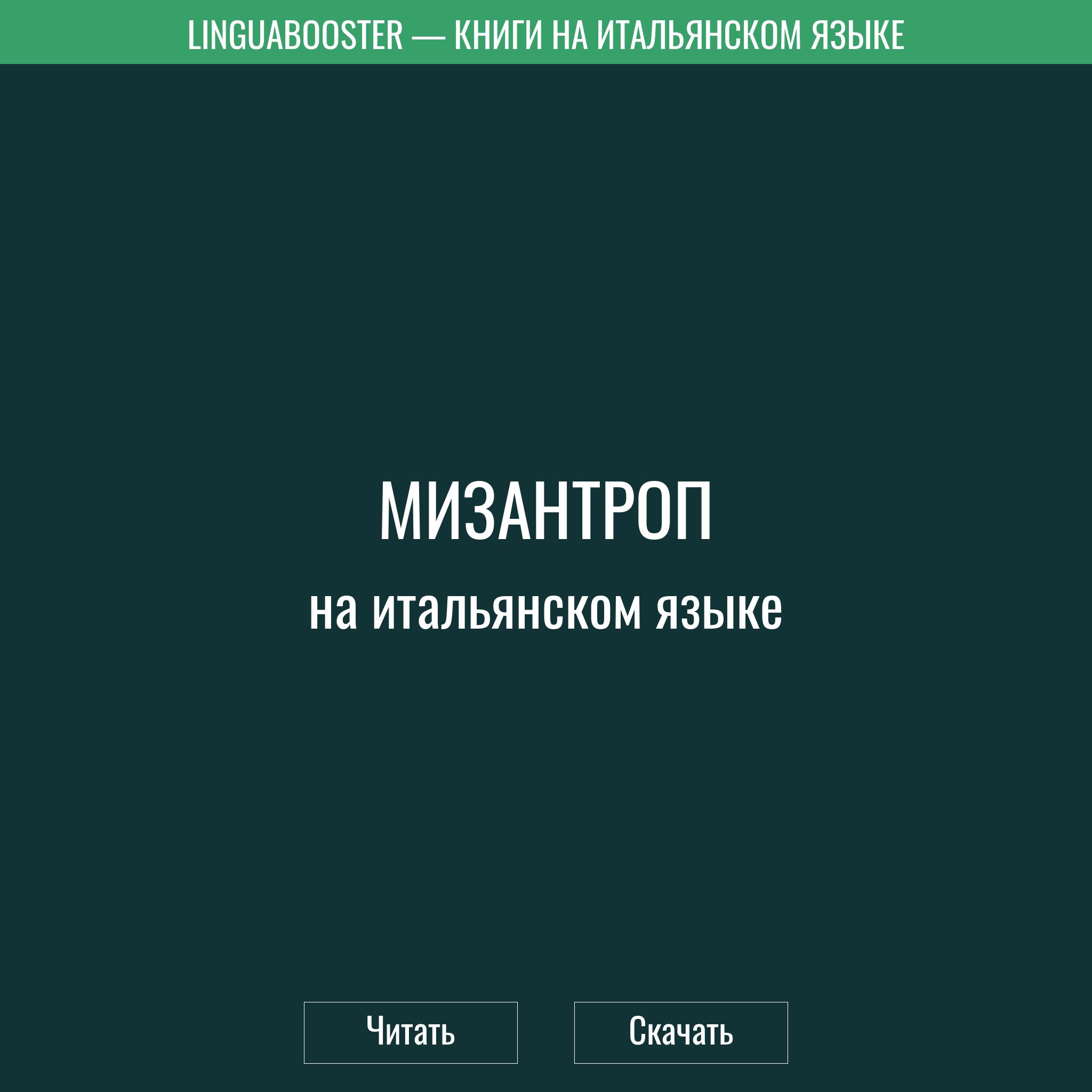 Читать книгу  «Мизантроп»